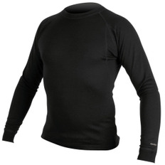 Merino L/S Base Layer Black