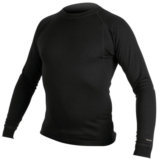 Merino L/S Base Layer Black