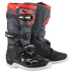 Tech 7S Junior Black / Dark Grey / Red Fluo