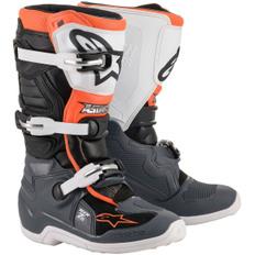 Tech 7S Junior Black / Grey / White / Orange Fluo