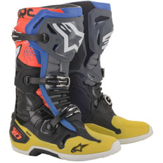 Tech 10 2019 Black / Yellow / Blue / Red Fluo