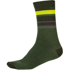 Baabaa Merino Stripe Forest Green