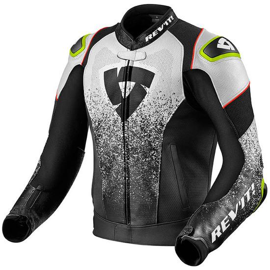 trabajo Adaptado clase  REVIT Quantum Air Black / White Jacket · Motocard