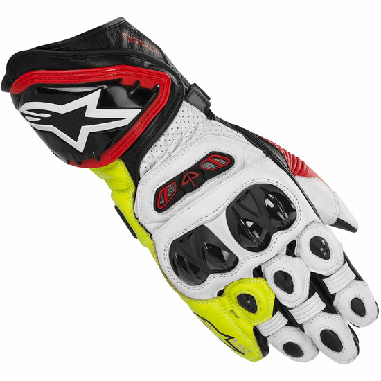 Gants ALPINESTARS GP Tech Black / White / Red / Yellow fluo