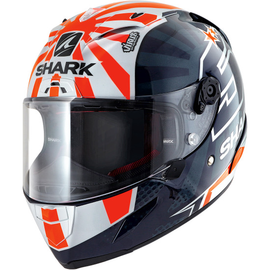 Casco SHARK Race-R Pro Replica Zarco 2019 Blue / White / orange