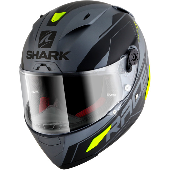 Casque SHARK Race-R Pro Sauer Mat Anthracite / Black / Yellow