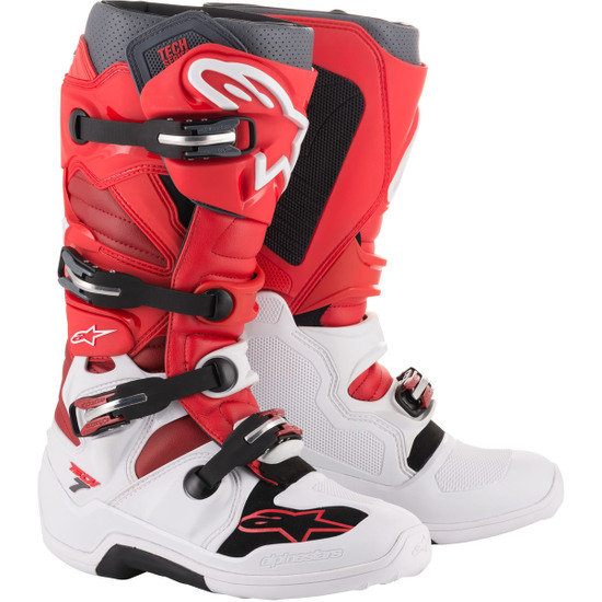 Botas ALPINESTARS Tech 7 White / Red / Burgundy