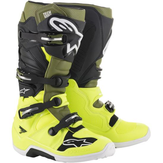 Botas ALPINESTARS Tech 7 Yellow Fluo / Military Green / Black