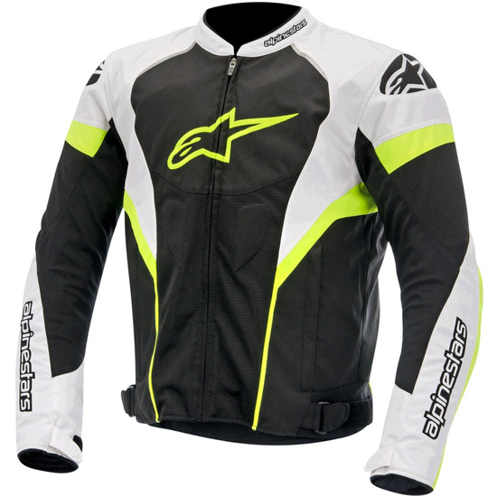 Blouson ALPINESTARS T-GP Plus R Air Black / White / Yellow Fluo