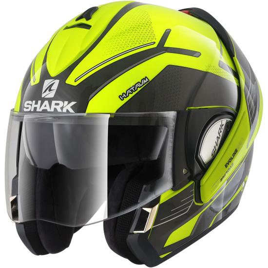 SHARK EvoLine Series3 Hataum Hi-Vis Yellow / Black / Anthracite Helmet