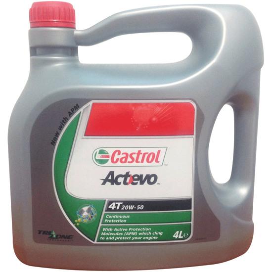 Olio e spay CASTROL ACT>EVO 4T / GP 4T 4L