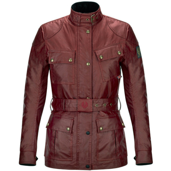 BELSTAFF Classic Tourist Trophy Cotton Lady Racing Red Jacket
