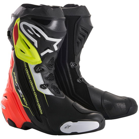 Botas ALPINESTARS Supertech-R Black / Red / Yellow Fluo