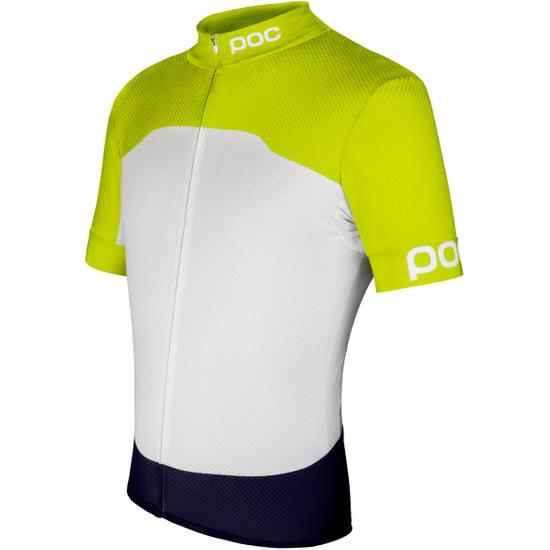Maillot POC Raceday Climber Unobtanium Yellow / Hydrogen White