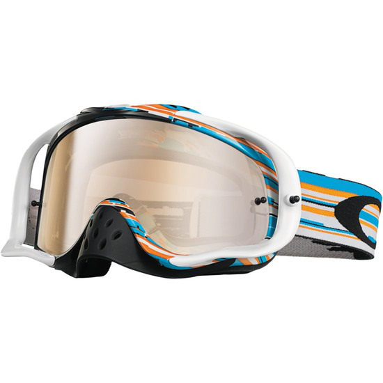 OAKLEY Crowbar MX Glitch Blue / Orange Iridium Mask / Goggle