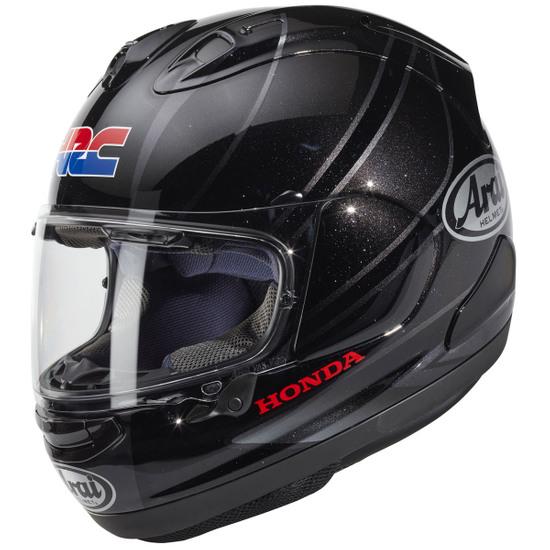 Helm ARAI RX-7V Honda HRC GP Silver