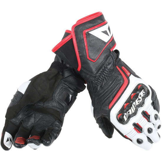 DAINESE Carbon D1 Long Black / White / Lava Red Gloves