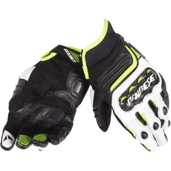 Handschuh DAINESE Carbon D1 Short Black / White / Fluo Yellow
