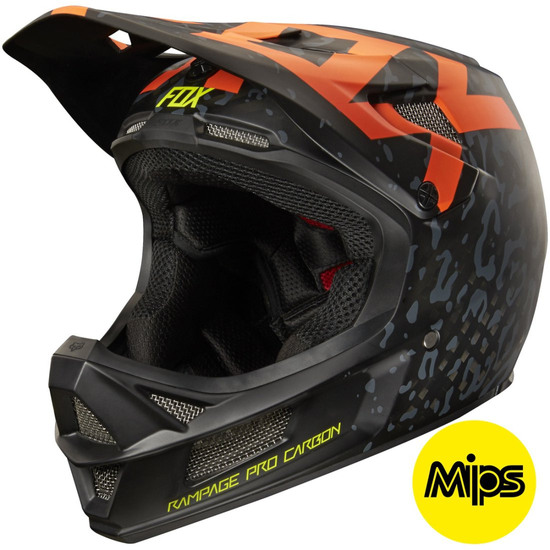 Casco FOX Rampage Pro Carbon 2016 Cauz Orange
