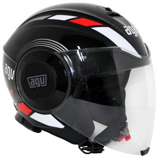 AGV Fluid Equalizer Black / Grey Helmet