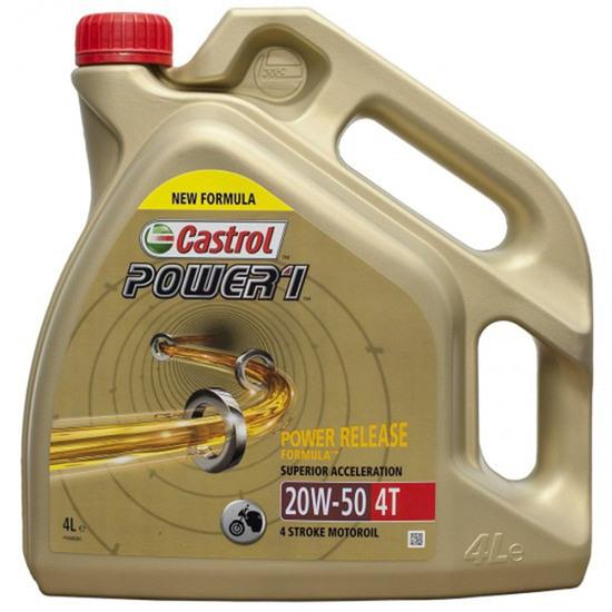 Olio e spay CASTROL Power 1 4T 4L 20W-50