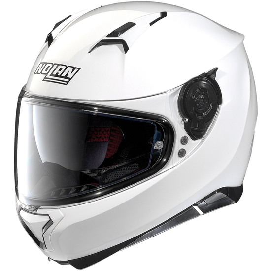 Helm NOLAN N87 Classic N-Com Metal White