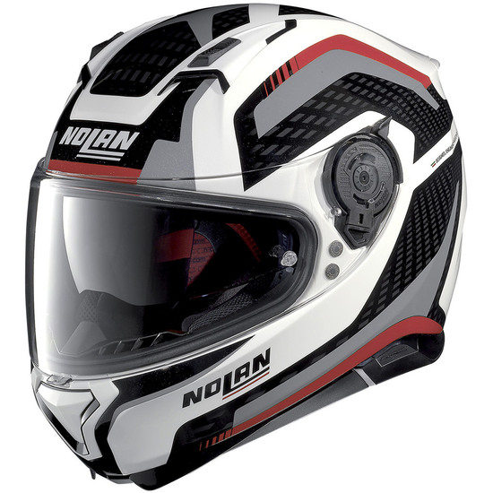 Helm NOLAN N87 Arkad N-Com Metal White / Red