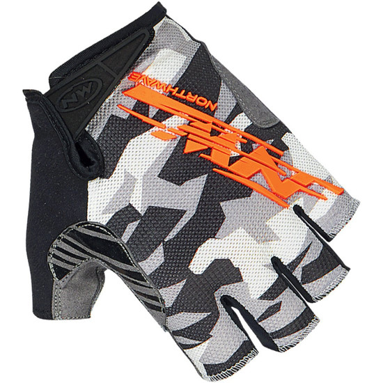 Guantes NORTHWAVE MTB Air 2 Short Camo / Orange Fluo