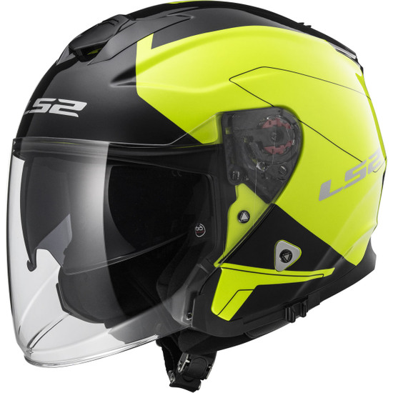 Casco LS2 OF521 Infinity Beyond Black / H-V Yellow