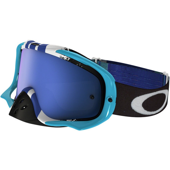 Brille OAKLEY Crowbar MX Pinned Race Blue / Black Ice Iridium