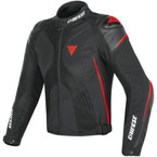 DAINESE Super Rider D-Dry Black / Red-Fluo