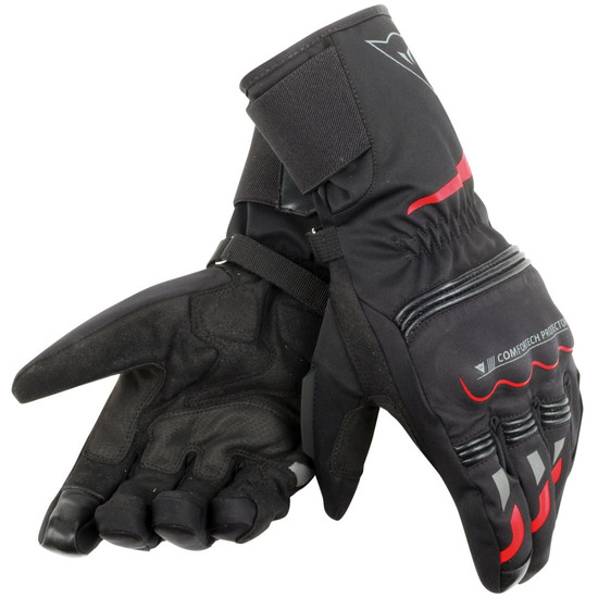 Gants DAINESE Tempest D-Dry Long Black / Red