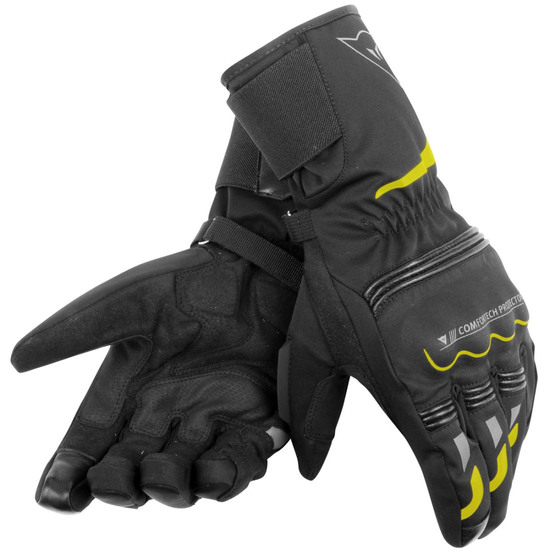 Guanto DAINESE Tempest D-Dry Long Black / Yellow-Fluo