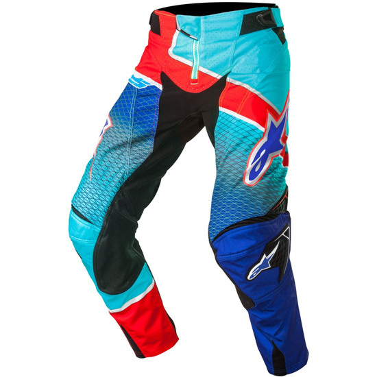 Pantalon ALPINESTARS Techstar 2017 Venom Blue / Cyan / Red