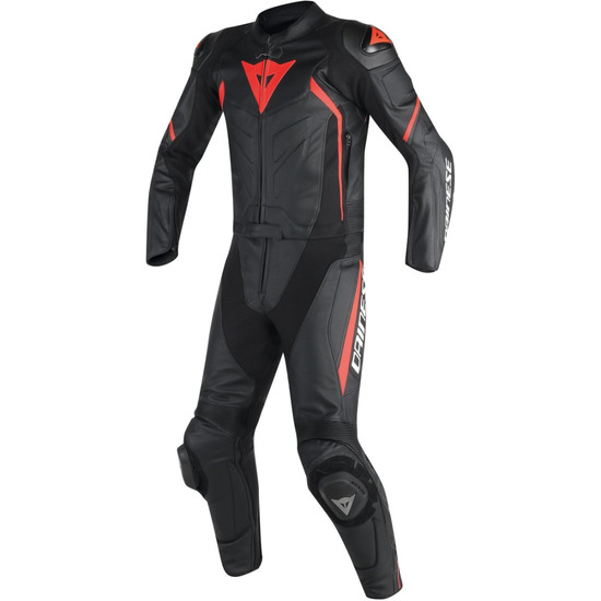 DAINESE Avro D2 Black / Red Fluo Suit