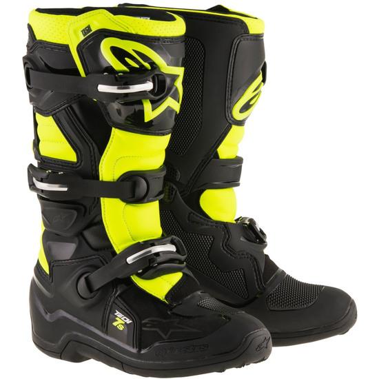 Stiefel ALPINESTARS Tech 7S Junior Black / Yellow Fluo