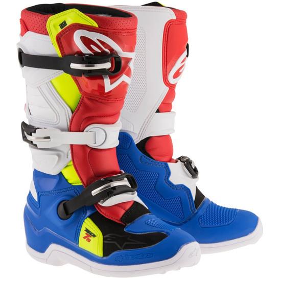 Bottes ALPINESTARS Tech 7S Junior Blue / White / Red / Yellow Fluo