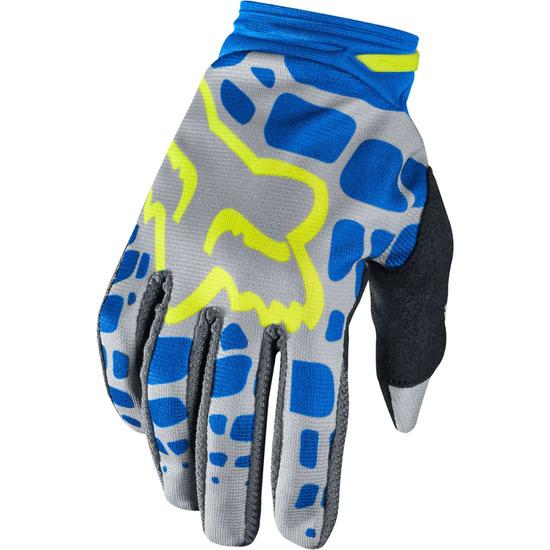 FOX Dirtpaw 2017 Lady Grey / Blue Gloves