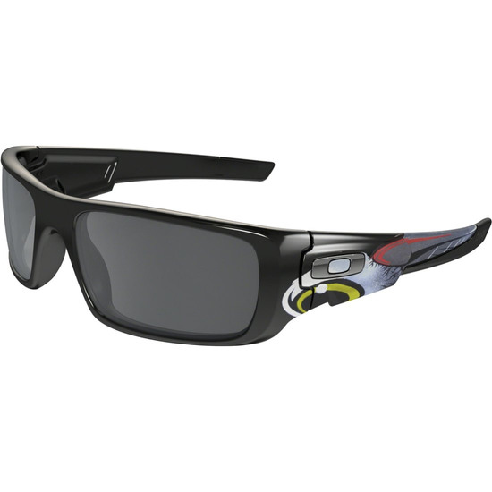 Lunettes de soleil OAKLEY Crankshaft Troy Lee Desgins Polished Black / Black Iridium