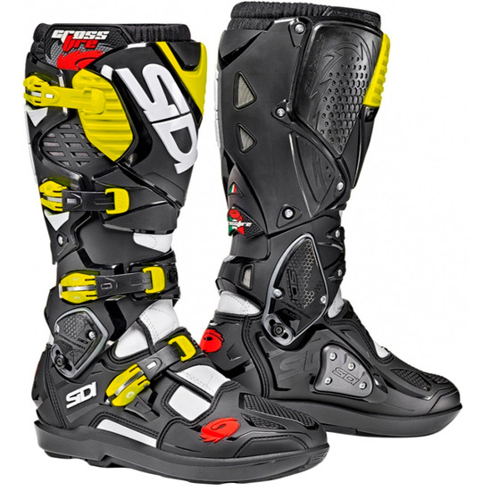 Stivale SIDI Crossfire 3 SRS White / Black / Yellow Fluo