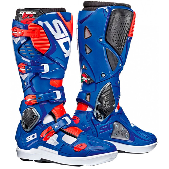 Botas SIDI Crossfire 3 SRS White / Blue / Red Fluo
