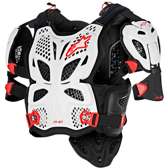 ALPINESTARS A-10 Full Chest White / Black / Red Protection
