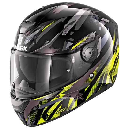 Helm SHARK D-Skwal Kanhji Black / Yellow / Anthracite