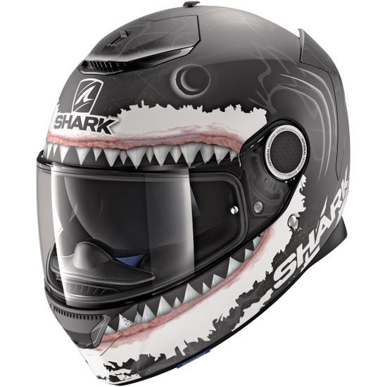 Helm SHARK Spartan Replica Lorenzo White Shark Mat Black / White / Anthracita