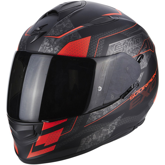 Casco SCORPION Exo-510 Air Galva Matt Black / Red Fluo