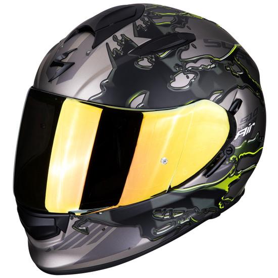 Casco SCORPION Exo-510 Air Likid Titanium / Neon Yellow