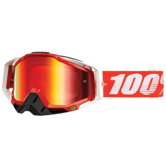100% Racecraft Fire Red Mirror Red Goggles