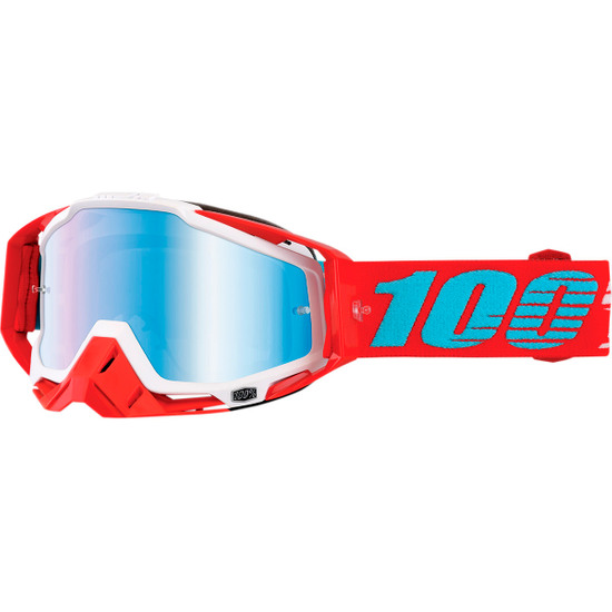 100% Racecraft Kepler Mirror Blue Goggles