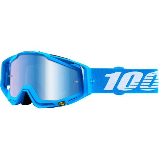 100% Racecraft Monoblock Mirror Blue Goggles