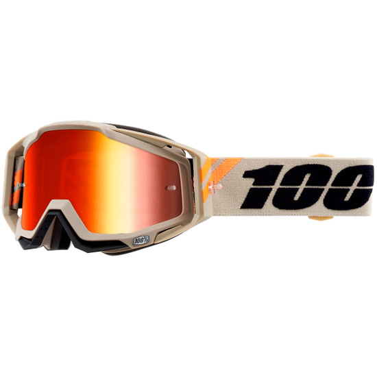 100% Racecraft Poliet Mirror Red Goggles